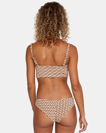 3 Cosmic Way Cheeky Bikini Bottom White AVJX400163 RVCA