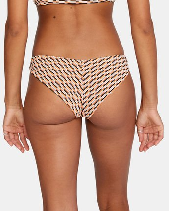 8 Cosmic Way Cheeky Bikini Bottom White AVJX400163 RVCA