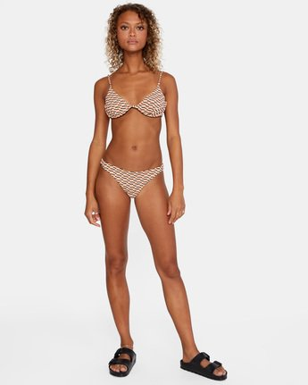 3 Cosmic Way Skimpy Bikini Bottom White AVJX400164 RVCA
