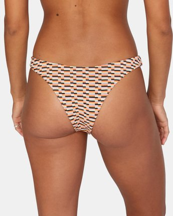 6 Cosmic Way Skimpy Bikini Bottom White AVJX400164 RVCA