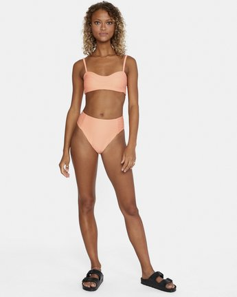 2 La Jolla High Rise Bikini Bottom Orange AVJX400172 RVCA