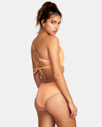 4 Wilder Cheeky Bikini Bottom Orange AVJX400183 RVCA