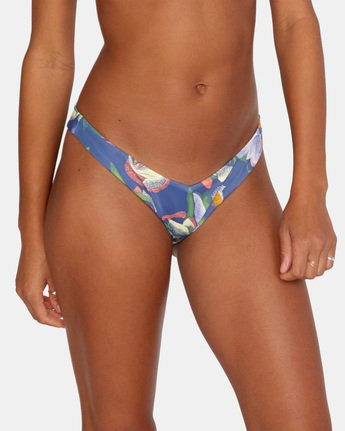 6 Pixie French Bikini Bottom Blue AVJX400185 RVCA