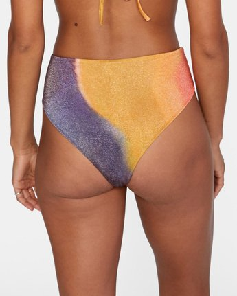 6 Trippy Dana High Rise Bikini Bottom Grey AVJX400188 RVCA