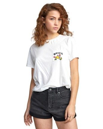 6 RVCA TUESDAY TEE White AVJZT00115 RVCA