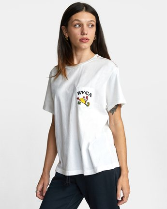 4 RVCA TUESDAY TEE White AVJZT00115 RVCA
