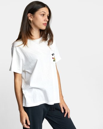 5 RVCA TUESDAY TEE White AVJZT00115 RVCA