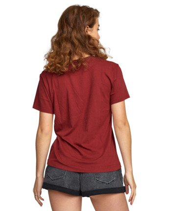 6 SPHERED TEE Red AVJZT00116 RVCA