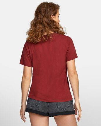 1 SPHERED TEE Red AVJZT00116 RVCA