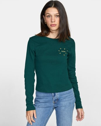 0 SPARKS LONG SLEEVE TEE Green AVJZT00119 RVCA