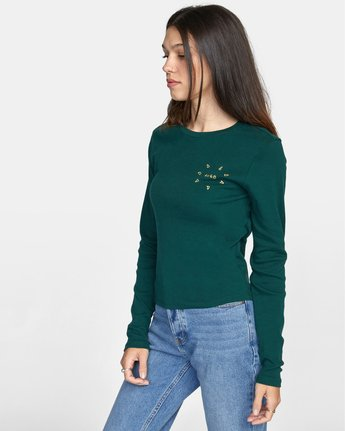 4 SPARKS LONG SLEEVE TEE Green AVJZT00119 RVCA