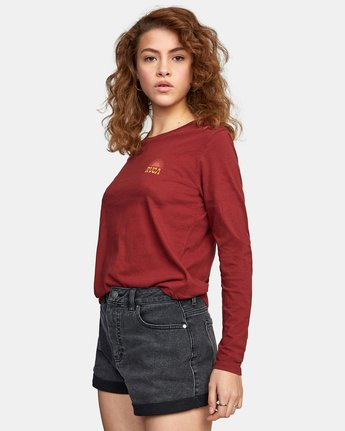 2 SET RISE LONG SLEEVE TEE Red AVJZT00124 RVCA