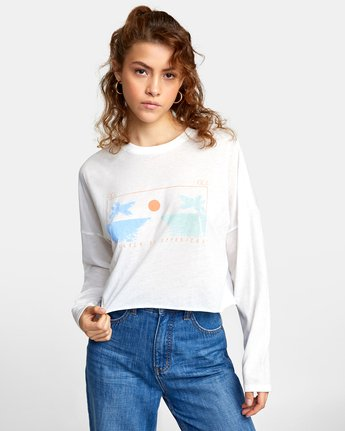 0 ATLANTIC VIEWS LONG SLEEVE TEE White AVJZT00141 RVCA