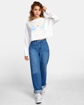 2 ATLANTIC VIEWS LONG SLEEVE TEE White AVJZT00141 RVCA