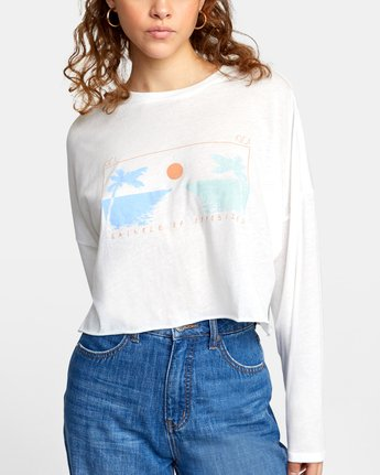 4 ATLANTIC VIEWS LONG SLEEVE TEE White AVJZT00141 RVCA