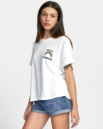 4 ALOHA RAINBOW TEE White AVJZT00145 RVCA