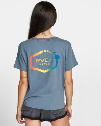 1 ISLAND HEX SHORT SLEEVE TEE Multicolor AVJZT00147 RVCA