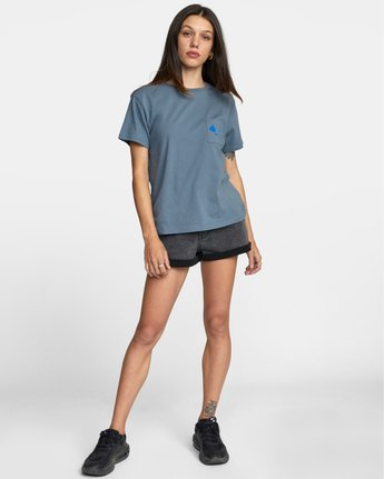 3 ISLAND HEX SHORT SLEEVE TEE Multicolor AVJZT00147 RVCA