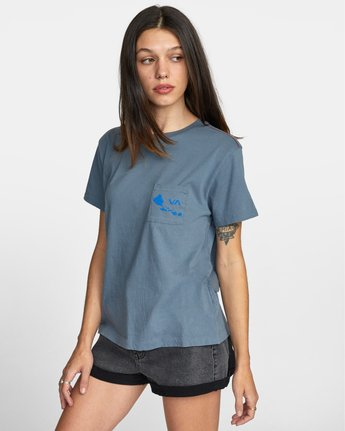 4 ISLAND HEX SHORT SLEEVE TEE Multicolor AVJZT00147 RVCA