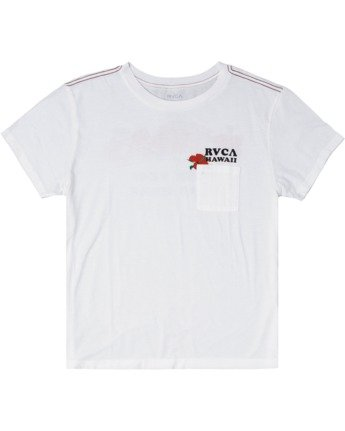 6 WISH YOU TEE White AVJZT00148 RVCA