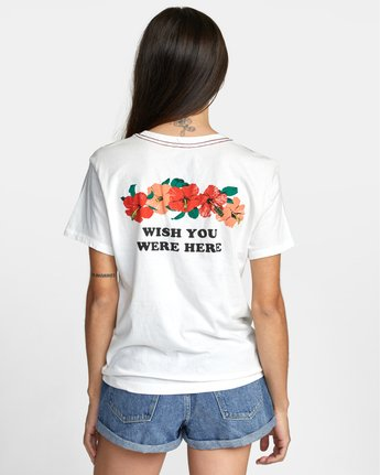 1 WISH YOU TEE White AVJZT00148 RVCA