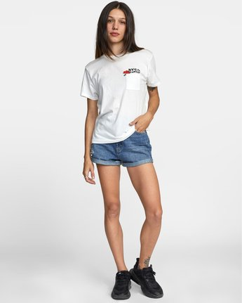 3 WISH YOU TEE White AVJZT00148 RVCA