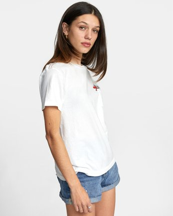 5 WISH YOU TEE White AVJZT00148 RVCA