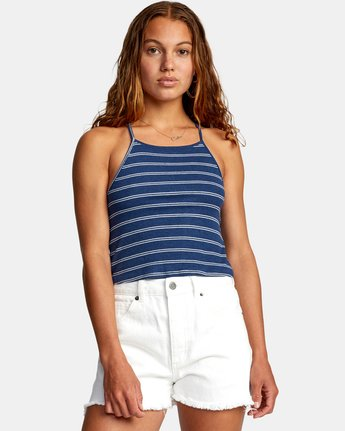 0 HAT TRICK TANK TOP Blue AVJZT00155 RVCA