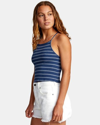 4 HAT TRICK TANK TOP Blue AVJZT00155 RVCA