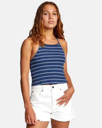 5 HAT TRICK TANK TOP Blue AVJZT00155 RVCA
