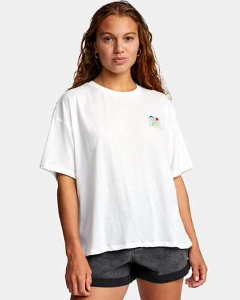 0 VA BOX SHORT SLEEVE TEE White AVJZT00181 RVCA
