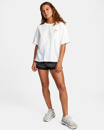 3 VA BOX SHORT SLEEVE TEE White AVJZT00181 RVCA