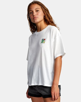 4 VA BOX SHORT SLEEVE TEE White AVJZT00181 RVCA