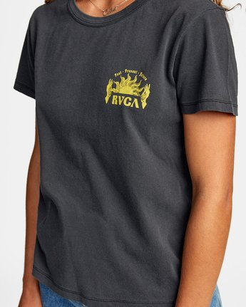 2 SHINE SHORT SLEEVE TEE Black AVJZT00189 RVCA