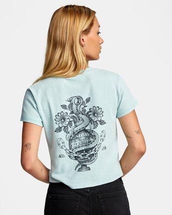 1 Benj Snakes Short Sleeve T-Shirt Blue AVJZT00191 RVCA