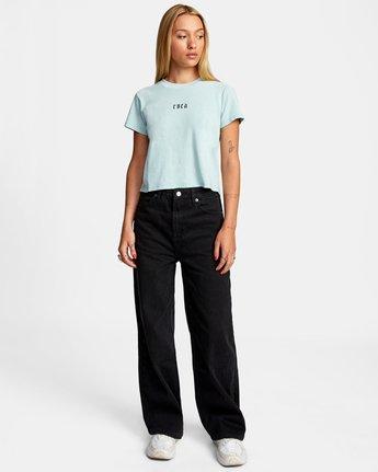 3 Benj Snakes Short Sleeve T-Shirt Blue AVJZT00191 RVCA