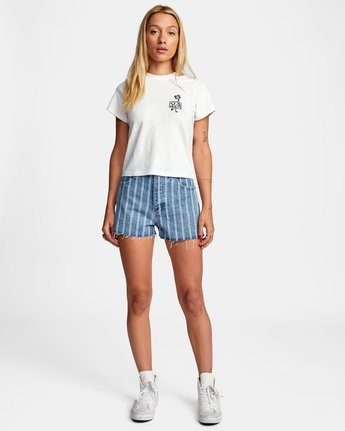 3 PEACE OUT SHORT SLEEVE TEE White AVJZT00194 RVCA