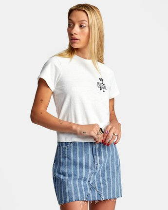 5 PEACE OUT SHORT SLEEVE TEE White AVJZT00194 RVCA