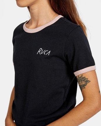 4 Scribble RVCA Short Sleeve Ringer Tee Black AVJZT00256 RVCA
