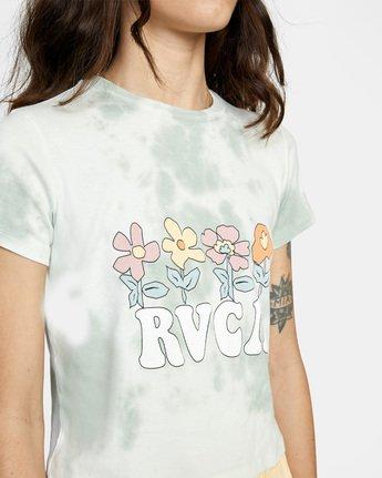 6 Freedom Flowers Short Sleeve Tee White AVJZT00260 RVCA