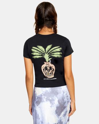 1 Palm Face Short Sleeve Tee Black AVJZT00262 RVCA