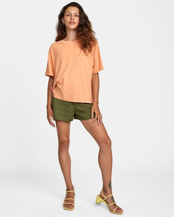 2 PTC Roll It Short Sleeve Tee Orange AVJZT00276 RVCA