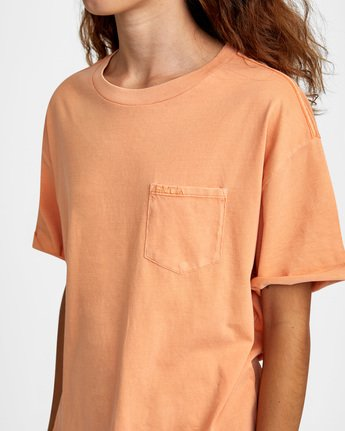 4 PTC Roll It Short Sleeve Tee Orange AVJZT00276 RVCA