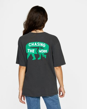 1 Chasing Short Sleeve Tee Black AVJZT00285 RVCA