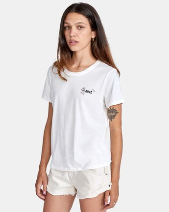 3 Peace Short Sleeve Tee White AVJZT00296 RVCA