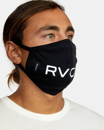 2 RVCA Face Mask Black AVYAA00119 RVCA