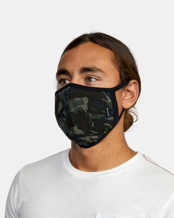 2 RVCA Face Mask Brown AVYAA00119 RVCA