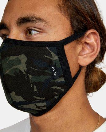 3 RVCA Face Mask Brown AVYAA00119 RVCA