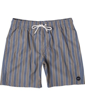 "0 PERRY ELASTIC BOARDSHORT 17"" Blue AVYBS00126 RVCA"