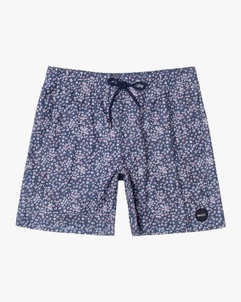"0 PERRY 17"" elastic TRUNK Blue AVYBS00126 RVCA"